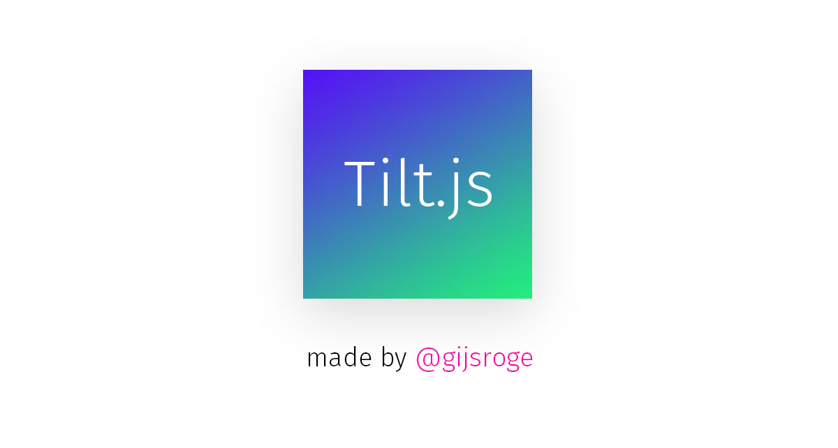 Tilt js - A tiny parallax tilt effect for jQuery